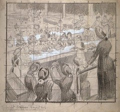 Salvation Army Midnight Supper, 1882 (London Metropolitan Archives) Tags: charity pencil print grid women salvationarmy prostitutes 1882 midnightsupper