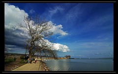 Balaton part (eLKayPics) Tags: sky panorama lake water clouds see wasser hungary pentax pano wide himmel wolken wideangle dslr ufer ungarn balaton magyarorszag zala plattensee weitwinkel keszthely k200d elkaypics