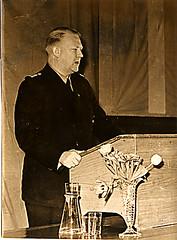 Føreren taler i Skien, mars 1942. (Riksarkivet (National Archives of Norway)) Tags: ns worldwarii secondworldwar quisling krigen vidkunquisling andreverdenskrig okkupasjonstiden