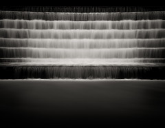 The Seven Factors of Awakening - Redux (Jeff Gaydash) Tags: blackandwhite water waterfall steps buddhism symmetry zen cascade