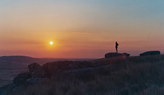 The Sun Sets In The West (intrazome) Tags: light sunset color colour film nature colors beautiful weather landscape colours beautifullight f80 bodminmoor bodmin fujisuperia400