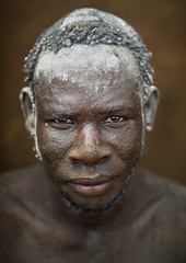 Bodi Tribe Man With Hair Decorated With Ashes, Hana Mursi, Omo Valley, Ethiopia (Eric Lafforgue) Tags: africa portrait people haircut color art beauty vertical proud hair outside photography clothing colorful day serious outdoor traditional culture pride jewelry tribal ornament adobe ash omovalley tradition ethiopia tribe facepaint pastoral ethnic hairstyle bodymodification oneperson jewel onepeople determination confidence hornofafrica ethnology bodi omo eastafrica tribesman onepersononly traditionalclothing realpeople colorimage lookingatcamera beautify meen waistup headandshoulder africanethnicity pastoralist pastoralism snnpr bodytransformation oneadult southernnationsnationalitiesandpeoplesregion ethiopianethnicity hanamursi eth7449
