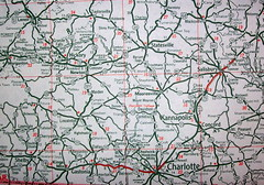 North Carolina Southern Piedmont Region 1947 (davecito) Tags: map northcarolina ephemera 1940s planning transportation cartography thesouth piedmont roadmap urbanplanning drafting streetmap citymap oldmap randmcnally vintagemap thesoutheast highwaymap metrocharlotte