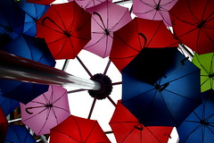 Under my umbrella (C*Fletcher) Tags: sky umbrella colours cover