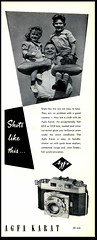 Agfa Karat (Harald Haefker) Tags: promotion vintage ads print advertising photo pub foto publicidad reclame ad retro anuncio advertisement nostalgia 1950s advert 1956 agfa werbung publicit reklame affiche publicitario pubblicit karat rclame photoapperat pubblicizzazione
