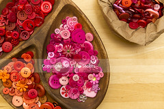 Sorting (Lisa-S) Tags: pink red stilllife orange ontario canada wooden buttons lisas craft hobby blond tray woodgrain divided collecting brampton paperbag invited sorting 5892 sewingbuttons clothingbuttons craftbuttons flickropen copyright2013lisastokes getty2013 getty20130423