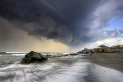 Thunderstorm [Explore] (Pandu Adnyana (thanks for 100K views)) Tags: bali cloud storm beach rain indonesia wave manyar