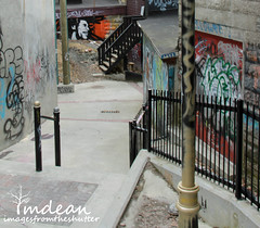 pathway to Marley... (Tina Dean) Tags: graffiti stjohns bobmarley tinadean imagesfromtheshutter tmdean tinamdean