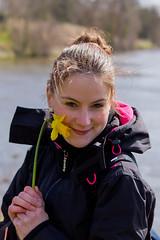 Daffodil (entangleone) Tags: cute girl daffodil monteviot d3100