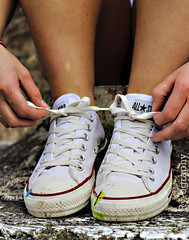 Converse (Rriahh_) Tags: park lighting new old blue original light white jenna blur color detail green classic texture nature colors beautiful lines rock contrast writing canon lens point photo words spring hands focus friend shoes paint different close view angle legs bright character fingers tie upstate knot sneakers line dirt nails converse saturation syracuse string series rough sharpen placement shape depth laces
