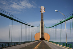 Musical bridge (Notkalvin) Tags: bridge fiction composite photoshop guitar michigan fantasy create upnorth edit mackinacbridge mackinac digitalmanipulation manipulate project366 notkalvin