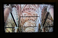 Taken From a Video 3 (Jocey K) Tags: italy building art church video screen ceiling worldheritagesite verona column fresco paitnings santanastasia cosmostour6330