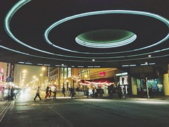 UFO (AnthonyTulliani) Tags: street trip people motion blur streets night circle indianapolis strangers places trafic iphone phoneography iphone5 iphoneography uploaded:by=flickrmobile flickriosapp:filter=nofilter