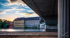 Schweinfurt (Samoht2014) Tags: abend gegenlicht main schweinfurt sonnenuntergang stadt bayern deutschland