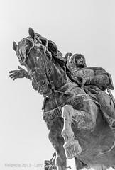 Valencia (Lord Seth) Tags: 2013 bw d5000 lordseth vacanze aragona biancoenero cavallo holydays kingjaumei nikon regiacomoi spagna statua valencia