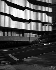 Symmetry (kiatography1) Tags: singapore sg ngeeannpoly iphone 6 plus apple iphone6plus iphone6 shotoniphone6plus shoton cityscapes urban mobile phone small sensor street scapes landscapes shadows highlights highcontrast contrast buildings school polytechnic ngee ann architecture walls corridors humanelement mobilephone handphone snapseed blackandwhite monochrome black white