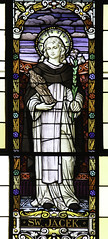 St Hyacinth of Poland (Lawrence OP) Tags: hyacinth saints dominican friar stainedglass window baltimore stcasimirs lily madonna