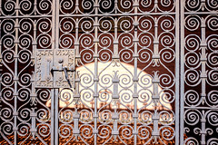Gates to Salvation (lightmagic) Tags: fujifilm xe2 fujixf18mmf2 street color velvia presbyterianchurch church gates rust iron