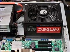 Xeon E5-2620 v4 LGA2011 Build - Canon 760D (abysal_guardian) Tags: intel xeon e52620 v4 supermicro lga2011 snkp0048ap4 heatsink cooler x10srmtfo samsung m393a4k40bb1 64gb ddr42400 rgistered ecc sandisk z400s m2 2280 128gb z410 480gb x4 icy dock tougharmor mb994sp4s antec high current gamer series hcg620 620w psu istarusa d213matx 2u rackmount chassis canon eos rebel t6s 760d efs18135mmisstm efs 18135mm is stm kit kitlens 2x arctic f8 80mm fans computer server build esxi freenas nas4free
