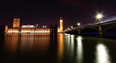 Late Night Thameside Adventures pt.2 - Westminster (calumccampbell) Tags: thames night evening blue hour late river reflection reflections bridge bridges city bank banks light lights water london londres waterloo westminster long exposure longexposure wide angle wideangle canon 1022 1022mm midnight