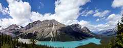 Banff NP - Caldron Peak and Peyto Lake at Bow Summit (Kwong Yee Cheng) Tags: alberta banffnp bowsummit caldronpeak canada hugin peytolake