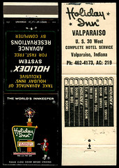 Holiday Inn in Valparaiso, Indiana - Matchcover (Shook Photos) Tags: smoke smoking match matches matchcover matchcovers matchbook matchbooks valparaisoindiana valparaiso indiana portercounty inn hotel waysideinn holidayinn