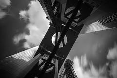 X ([~Bryan~]) Tags: x cross architecture umedaskybuilding umeda observationdeck skygardan daytimelongexposure longexposure bw monochrome cloud osaka japan