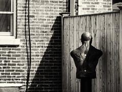 Yard (PAJ880) Tags: yard fence dummy urban bw charlestown ma mono