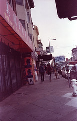 San Francisco sidewalks Konica C35 (fgmachine) Tags: sanfrancisco sidewalk clement st konica c35 film 35mm unicolor c41 home developing diy photography 400 iso old california