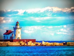 guiding_light (gerhil) Tags: landscapephotography scenic serene lighthouse water lake erie outdoor summer september2016 nikcolorefexpro4 vintage fineart skyline shore sky landscape 1001nights 1001nightsmagiccity