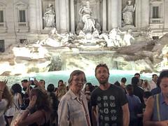 Marilyn & Graham at the Trevi Fountain (David_and_Marilyn_King) Tags: rome 2016 trevifountain fontana night illuminated fontaine marilyn graham