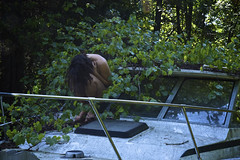 Overtaken (aedphotography) Tags: nude abandoned boat nature selfportrait portrait