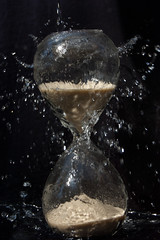 Time's Washing Away (IncognitoImages) Tags: water hourglass time photographychallenge challenge amaturephoto amaturephotographer amaturephotography amature sand glass droplets splash splashingwater