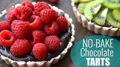 No Bake Chocolate Raspberry Tarts | HEALTHY DESSERT RECIPE  (Healthy Fun Fitness) Tags: no bake chocolate raspberry tarts | healthy dessert recipe