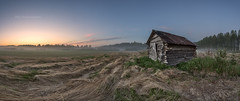 Old barn (M.T.L Photography) Tags: horizon early landscape wideangle clouds water trees nordic color copyright morning night drama dramatic smooth finland suomi nikond810 nikkor1424 mtlphotography sunrise sunset barn old sky