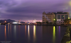 University of Thessaly, Volos (Aggelos Kastoris) Tags: long landscape exposure purple colors green sky volos greece photography outdoor thessaly sea seaside d7100 nikon nature nikorr clouds explore greek night hellas university europe water slow shutter nd filter skyline