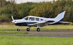 G-VICC (goweravig) Tags: gvicc piper cherokee warrior pa28 visiting aircraft swansea wales uk swanseaairport freedomaviation