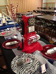 Big River Telephone table from the Jackson Chamber Annual Banquet