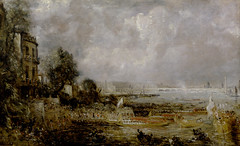 The Panoramic River: The Opening of Waterloo Bridge, at the Hudson River Museum (Hudson River Museum) Tags: england art thames river painting waterloo british yale johnconstable 1829 hudsonrivermuseum yalecenterforbritishart panoramicriver