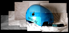 Hockney Style Collage (Ben Mac.) Tags: blue light white collage high bmx key flash low helmet fast photographic level hockney forward petersfield a as synical