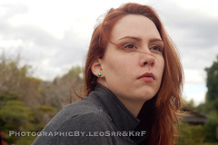 DSC09951 (LeoSrr) Tags: beautiful cloudy freckles earrings redhair beautifullips heartearrings greenearrings redhairwithearrings
