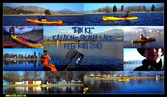 """Thin Ice"" Kayaking Skaha Lake LOG:Feb10/2013 (Guy_Tha_Lizard) Tags: winter lake ted ice kayaking thin northeast penticton skaha newberry robindunham"