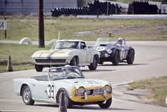 The great George Waltman at Sebring 1963. (Nigel Smuckatelli) Tags: auto classic cars race speed vintage classiccar automobile florida racing prototype solo hour passion legends vehicle autoracing 12 sebring sir endurance motorsports fia csi sportscar triumphtr4 1963 wsc heures world sportauto autorevue historic championship raceway louis sebringinternationalraceway sebringflorida legends gp oldtimersport histochallenge manufacturers gp 1963 sebring motorsports nigel smuckatelli galanos manufacturers the12hourgrind georgewaltman