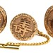 1030. Antique Chinese Gold Cufflinks and Tie Tack