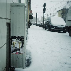 MERDE (moksimil) Tags: schnee winter white snow germany square deutschland cologne koln iphone quadrat quadratisch artistunknown zlpicherstrase iphoneography moksimil iphone4s snapseed