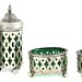 2052. Four Piece Sterling & Glass Condiment Set