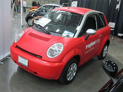 2011 Th!nk City (splattergraphics) Tags: city think ev carshow electriccar baltimoremd baltimoreconventioncenter 2011 thinkcity worldcars thinkglobal motortrendinternationalautoshow valmetautomotive