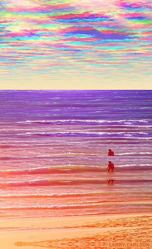 LARRY CARLSON, Waves Waves, c-print, 65x45in., 2013.