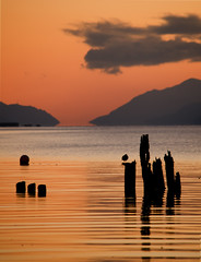 Loch Ness - Sunset (Michael Carver Photography) Tags: winter sunset red orange mountains beach monster clouds landscape scotland highlands nikon waves glow scenic scottish less inverness ness dores d7000