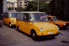 FRIDOLIN 1983 (streamer020nl) Tags: yellow vw volkswagen schweiz switzerland volvo suisse swiss 7 9 1983 helvetia lugano ch ptt zwitserland fridolin swisspost type147 typ147 p14399